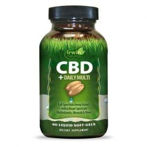 Irwin Naturals Cbd + Daily Multi 60 Soft Gels Vitamin C Multivitamins