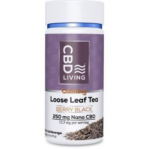CBD Living Cbd Loose Leaf Berry Black Tea 12.5 mg 1.6 oz Jar