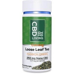 CBD Living Cbd Loose Leaf Tea - Passion Green 12.5 mg 1.5 oz Jar