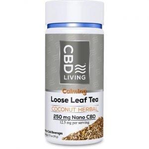 CBD Living Cbd Loose Leaf Tea - Coconut Herbal 12.5 mg 1.75 oz Jar
