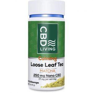 CBD Living Cbd Loose Leaf Tea - Matcha 25 mg 1.5 oz Jar