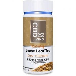CBD Living Cbd Loose Leaf Chai Turmeric Tea 12.5 mg 2.5 oz Jar Joint Health