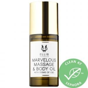 Ellis Brooklyn Marvelous CBD Massage and Body Oil 1.0oz/ 30mL Pump