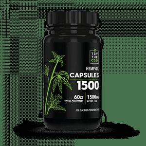 CBD Capsules 60ct THC FREE