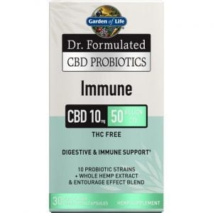 Garden of Life Dr. Formulated Cbd Probiotics Immune 10 mg 30 Veg Caps
