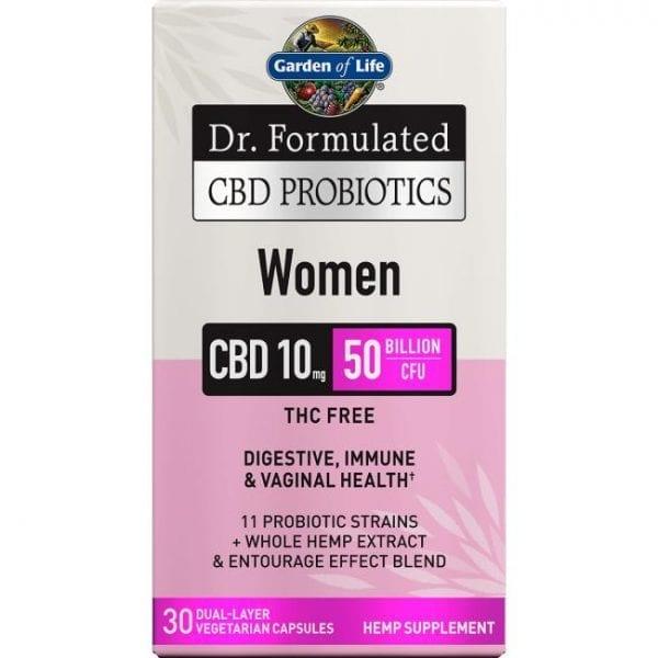 Garden of Life Dr. Formulated Cbd Probiotics Women 30 Veg Caps