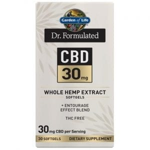 Garden of Life Dr. Formulated Cbd 30 mg 30 Soft Gels