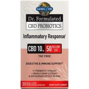 Garden of Life Dr. Formulated Cbd Probiotics Inflammatory Response 30 Veg Caps