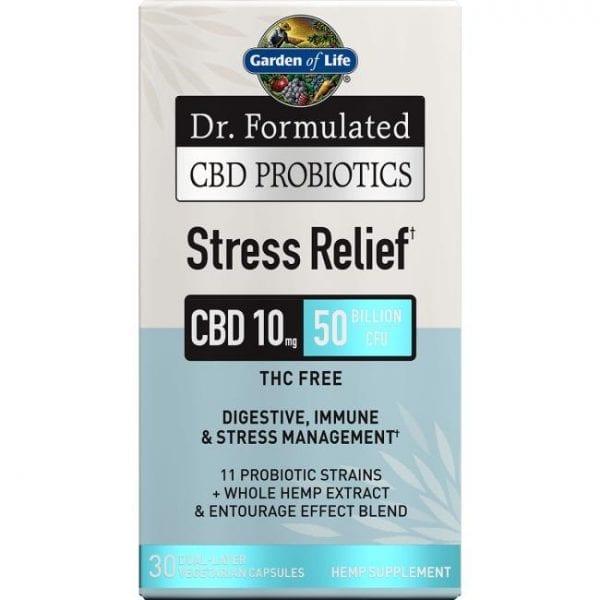 Garden of Life Dr. Formulated Cbd Probiotics Stress Relief 30 Veg Caps