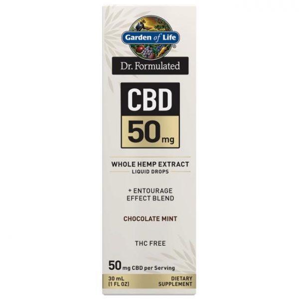 Garden of Life Dr. Formulated Cbd - Chocolate Mint 50 mg 1 fl oz Liquid