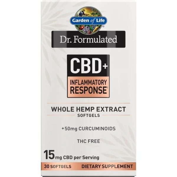 Garden of Life Dr. Formulated Cbd+ Inflammatory Response 30 Soft Gels Joint Health