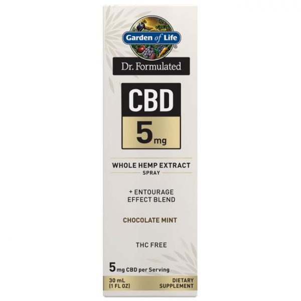 Garden of Life Dr. Formulated Cbd Spray - Chocolate Mint 5 mg 1 fl oz Liquid 20 mg 1 fl oz Liquid