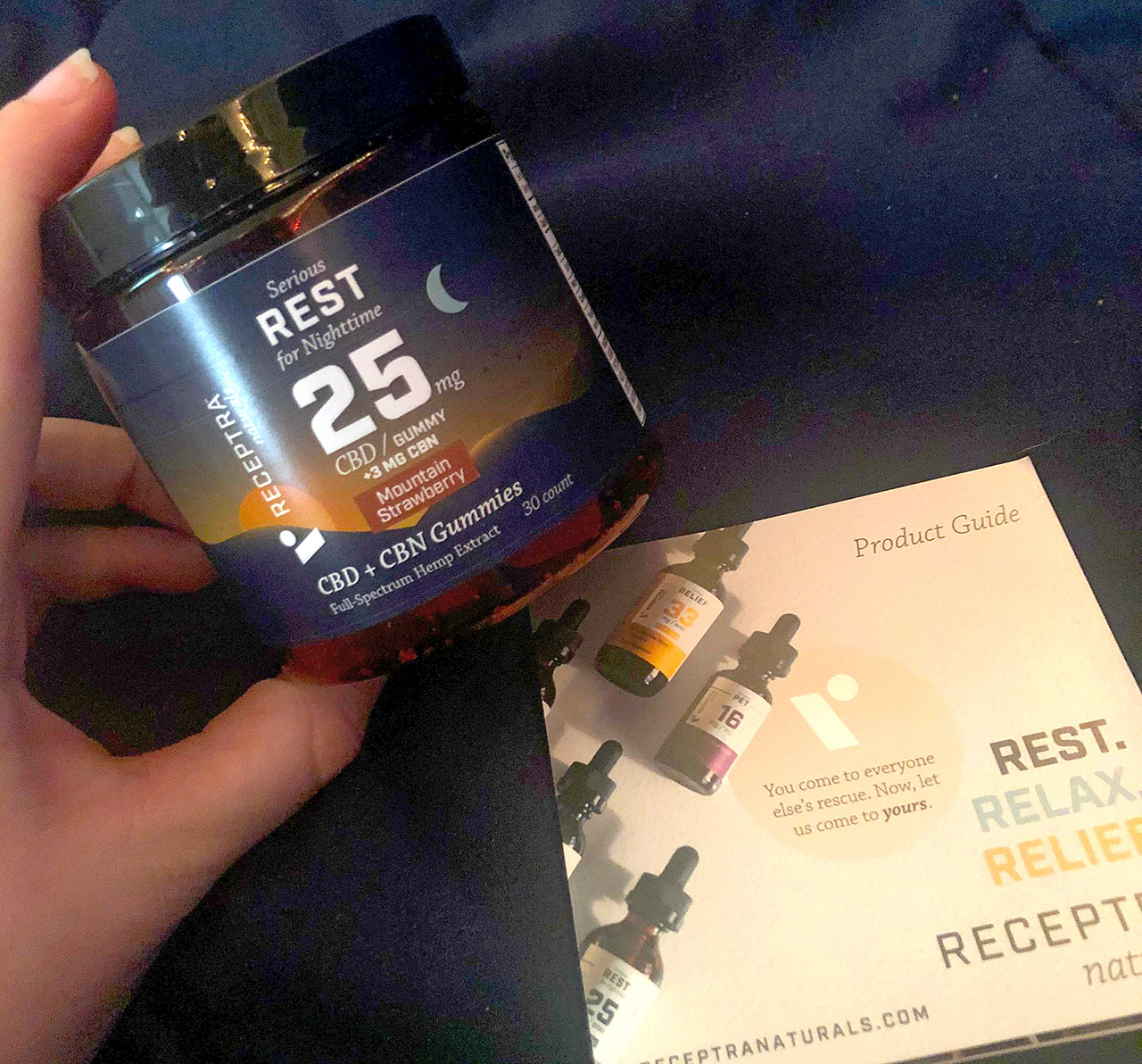 Receptra Naturals Serious Rest Gummies: CBD + CBN Gummies