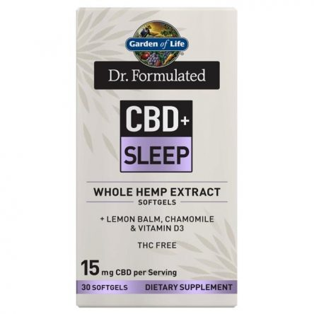 Garden of Life Dr. Formulated Cbd+ Sleep 30 Soft Gels Sleep and Relaxation