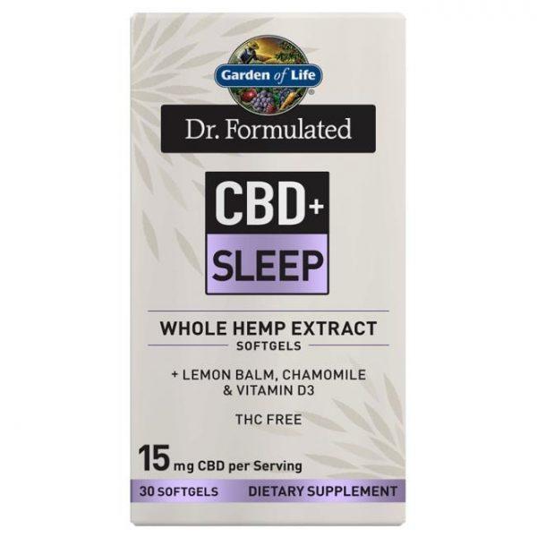 Garden of Life Dr. Formulated Cbd+ Sleep 30 Soft Gels Sleep and Relaxation