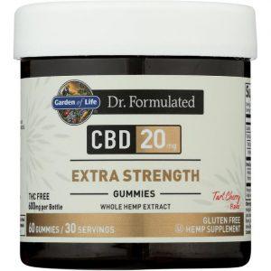 Garden of Life Dr. Formulated Cbd Extra Strength - Tart Cherry 20 mg 60 Gummies