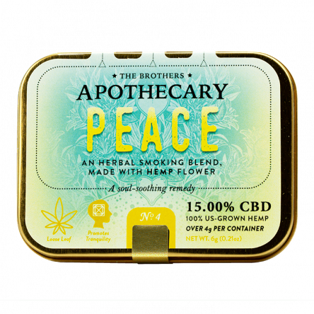 The Brothers Apothecary Peace Hemp CBD Smoking Blend