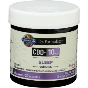 Garden of Life Dr. Formulated Cbd Sleep - Blueberry 10 mg 60 Gummies Sleep and Relaxation