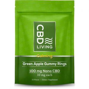 CBD Living Cbd Calming Gummy Rings - Green Apple 10 mg 10 Gummies