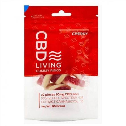 CBD Living Cbd Gummy Rings – Cherry 10 mg 10 Gummies