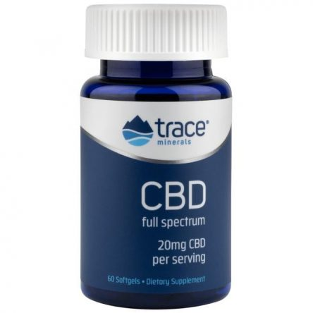 Trace Minerals Full Spectrum Cbd 20 mg 60 Soft Gels