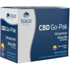 Trace Minerals Cbd Go-Pak Powder - Berry Lemonade 20 mg 20 Packets