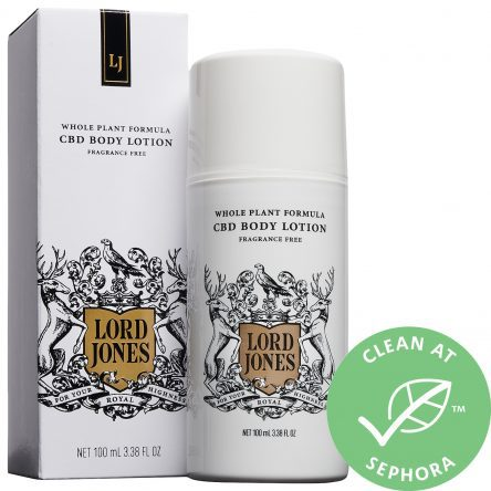 Lord Jones High CBD Formula Body Lotion Fragrance Free 3.38 oz/ 100 mL