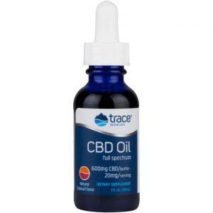 Trace Minerals Cbd Full Spectrum Oil - Natural Tropical 20 mg 1 fl oz Liquid