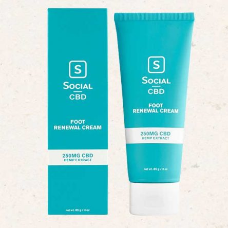 Social (formerly Select) CBD Foot Renewal Cream – 250mg per Tube