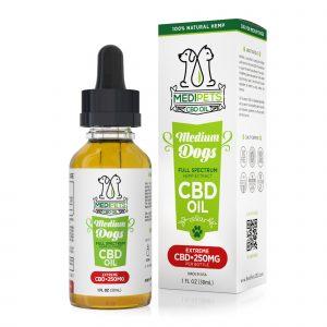 MediPets CBD Oil for Medium Dogs - Extreme Strength - 250mg (30ml)