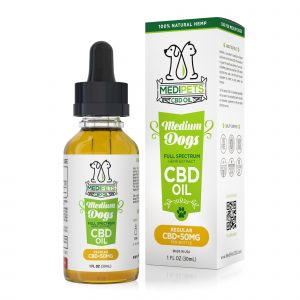 MediPets CBD Oil for Medium Dogs - Regular Strength - 50mg (30ml)