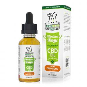MediPets CBD Oil for Medium Dogs - Strong Strength - 150mg (30ml)