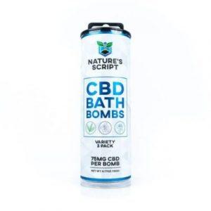 Nature's Script CBD Bath Bomb (Choose Variation)