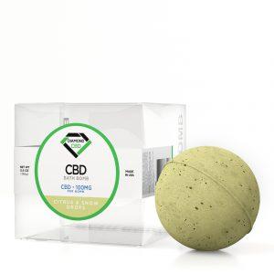 Diamond CBD Bath Bomb Citrus & Snow Drops - 100mg