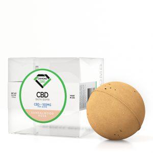 Diamond CBD Bath Bomb Sandalwood Rose - 100mg