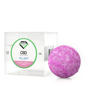 Diamond CBD Bath Bomb Warm Vanilla Sugar - 100mg