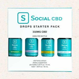 Social CBD Drops Starter Pack - 332mg per Pack