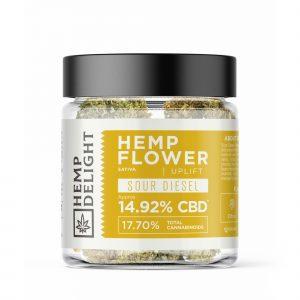 Hemp Delight - Hemp Flower Sour Diesel (HTSOUR) - 7gm