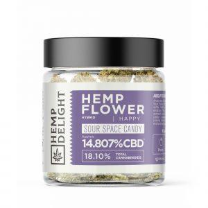 Hemp Delight - Hemp Flower Sour Space Candy (MLSOUR) - 7gm