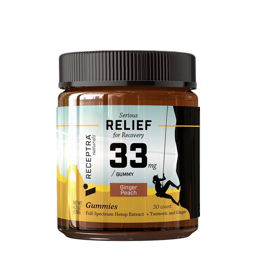 Receptra Naturals Serious Relief CBD Gummies