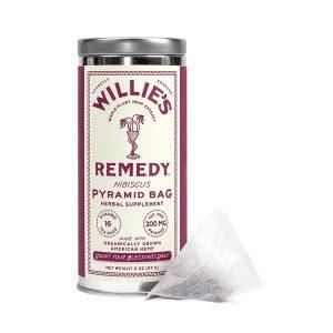 Willies Remedy CBD Tea Bags- Hibiscus 200mg 16 Count