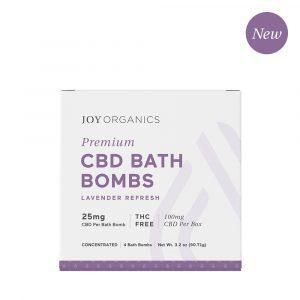 Joy Organics CBD Bath Bombs - Lavender 25mg 4 Count