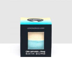 CBD For Life CBD Bath Bomb - Lemongrass Kiwi