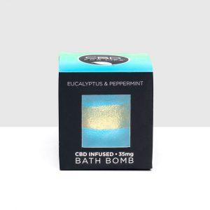 CBD For Life CBD Bath Bomb - Eucalyptus & Peppermint