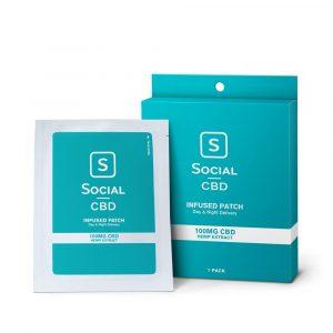 Social CBD Transdermal CBD Patch - 100mg Three Pack