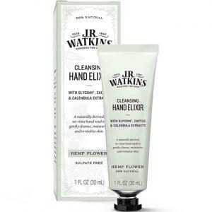 J.R. Watkins Cleansing Hand Elixir - Hemp Flower 1 fl oz Liquid