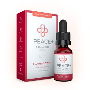 Peace+ CBD Tincture Oil - Flower Power - Hibiscus Raspberry 500mg 15ml