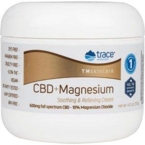 Trace Minerals Cbd + Magnesium Soothing & Relieving Cream 4 oz Cream