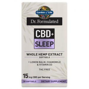 Garden of Life Dr. Formulated Cbd+ Sleep 30 Soft Gels