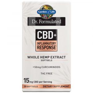 Dr. Formulated CBD+ Turmeric Softgels - Inflammatory Response - 15mg 30 Count